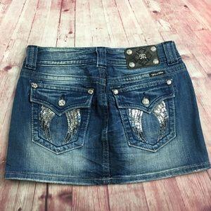 🐞Miss Me JP5082I13 size 28 Denim Mini Skirt
